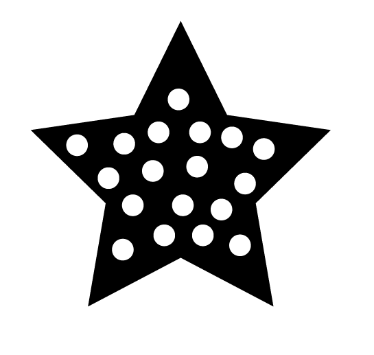 Star with Polka Dots Silhouette