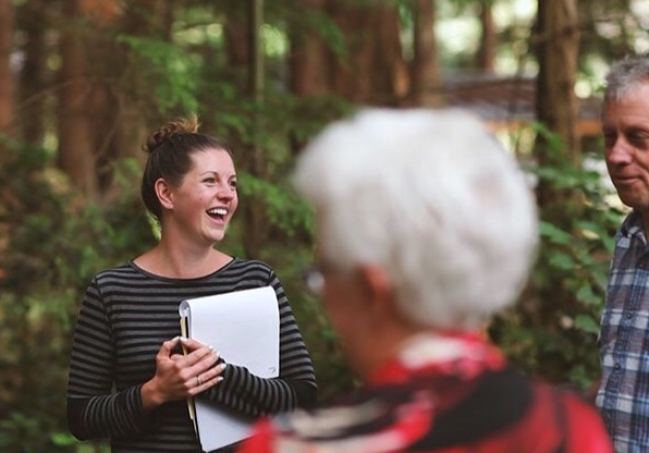 A behind-the-scenes shot of me running a rehearsal, in the woods, after sleeping the the family bunk cabin for two days. Felt like home. (Photo  Capture The Moment Media )