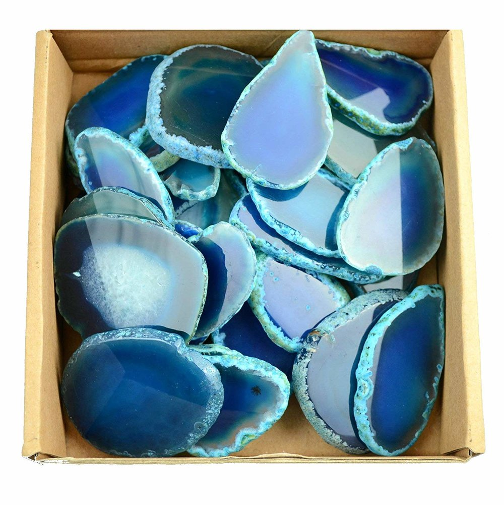 Agate Place Card Stones