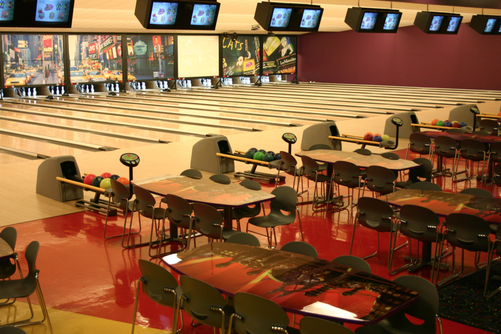 Players Area and Bowling Lanes