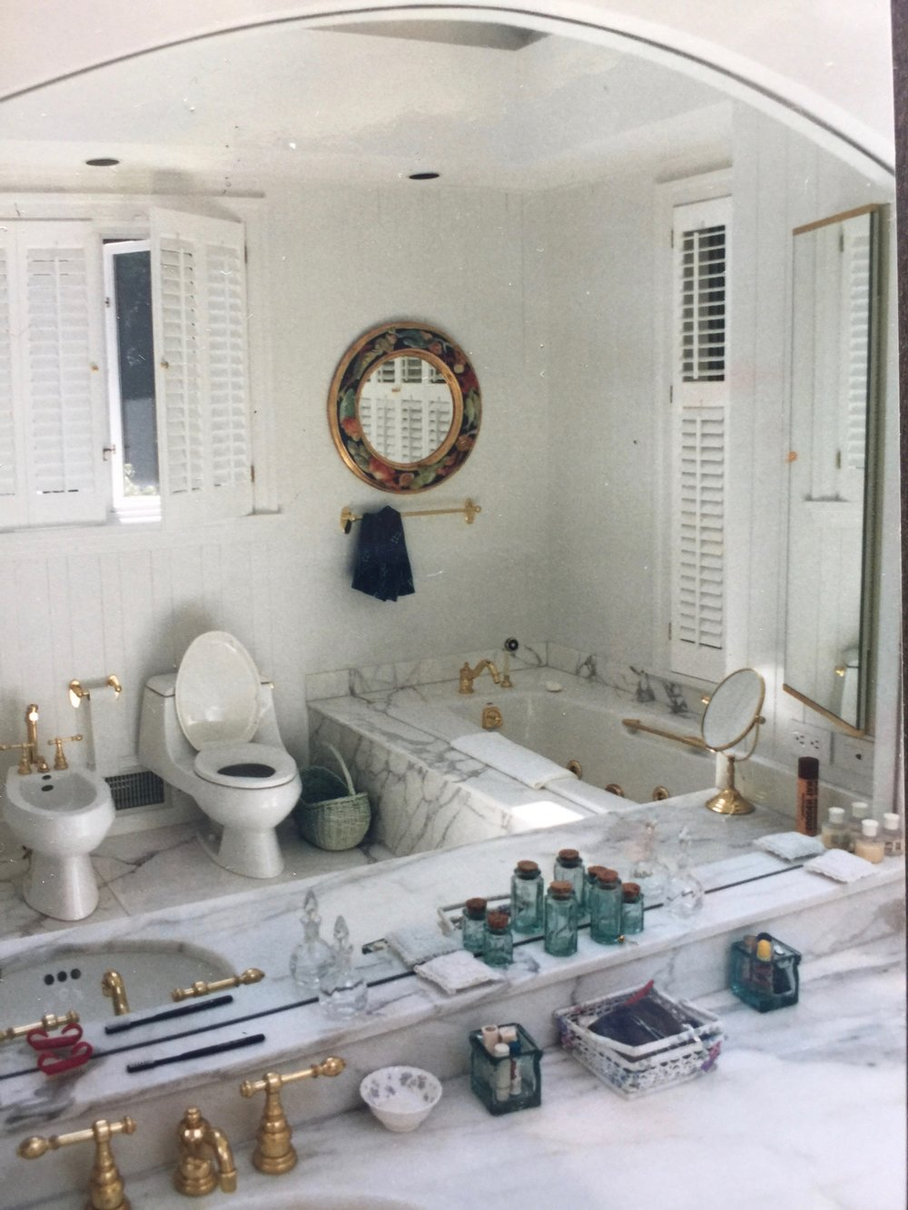 Master Bath with Italian marble