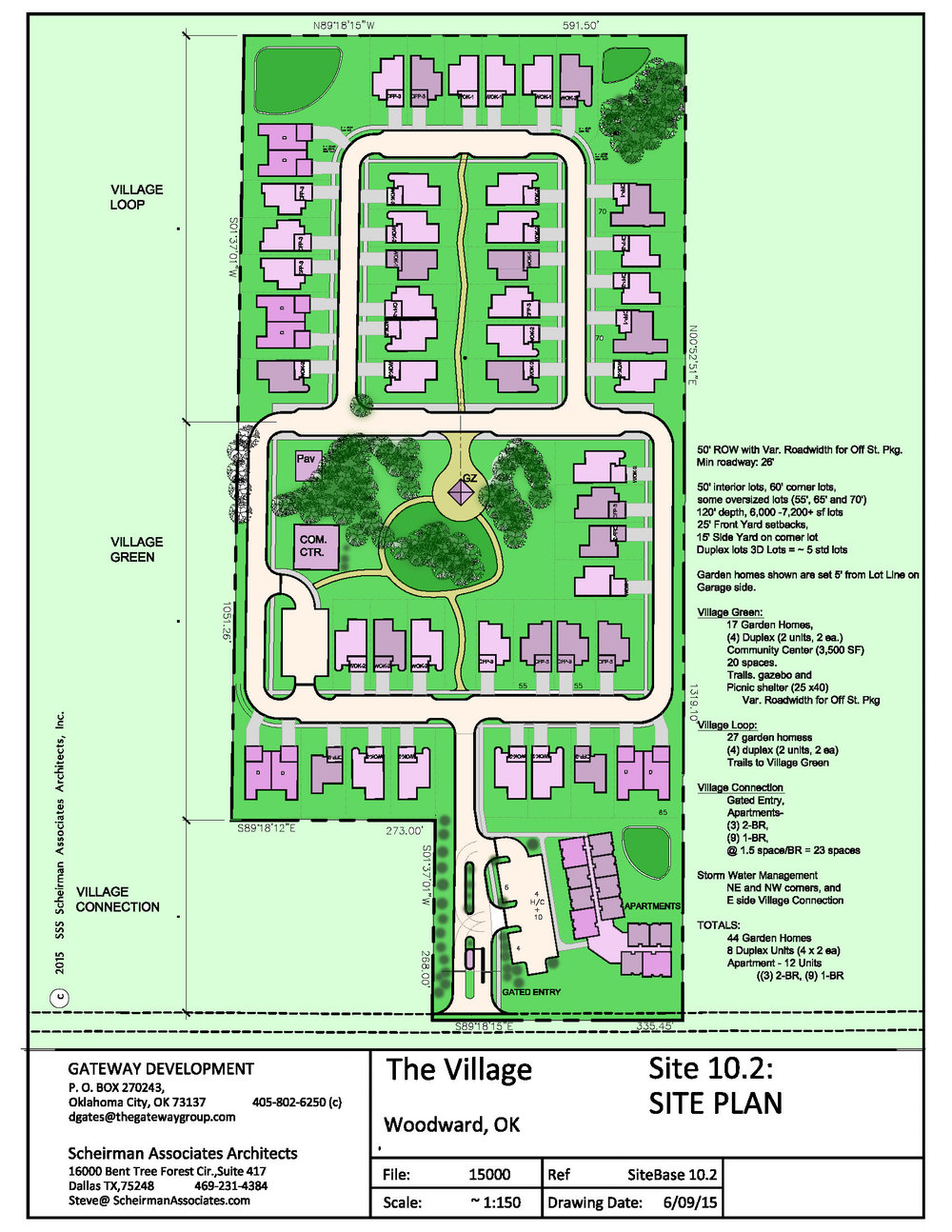 Site Plan, Age-In-Place Residential