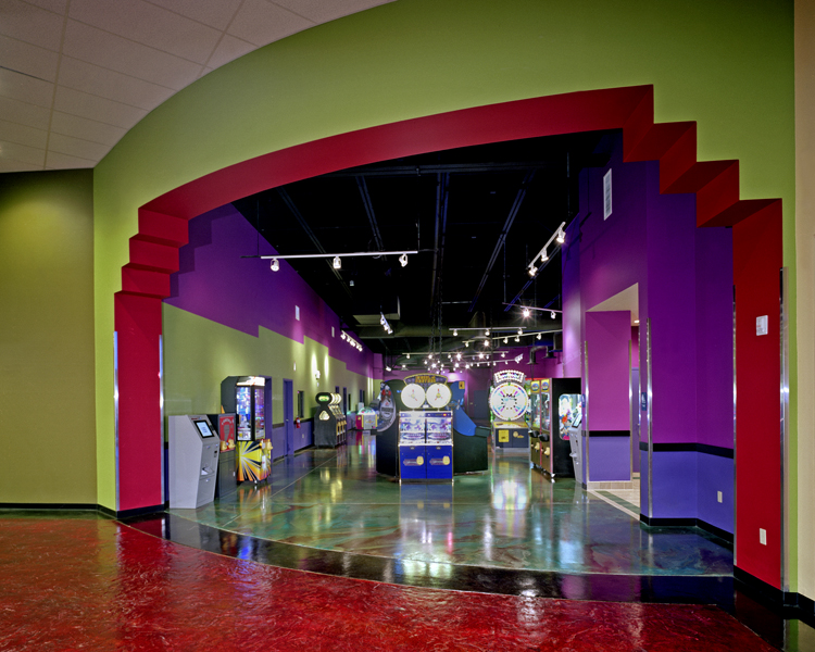 Entry to Arcade & Games area