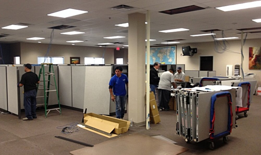 Workstation cubicles installation