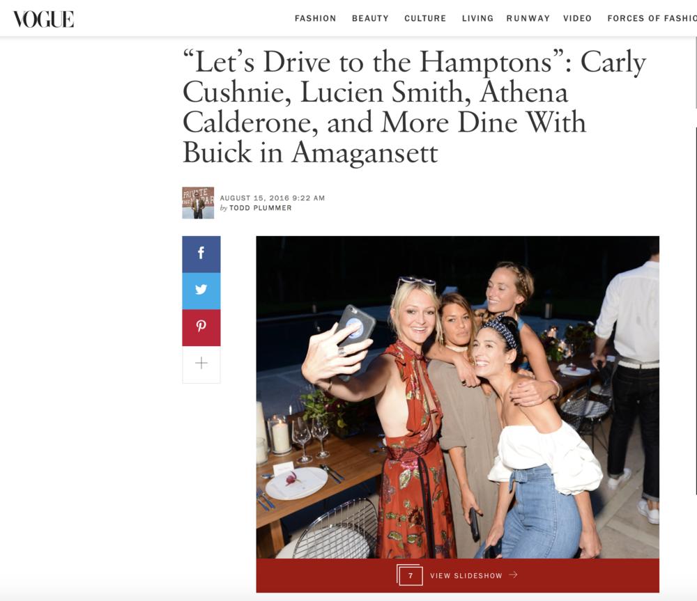 Vogue - Jenne Lombardo - Buick Studio Envision Dinner