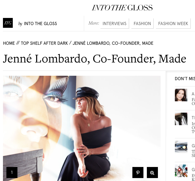 Into the Gloss - Jenne Lombardo - The Terminal Presents MADE Fashion Week