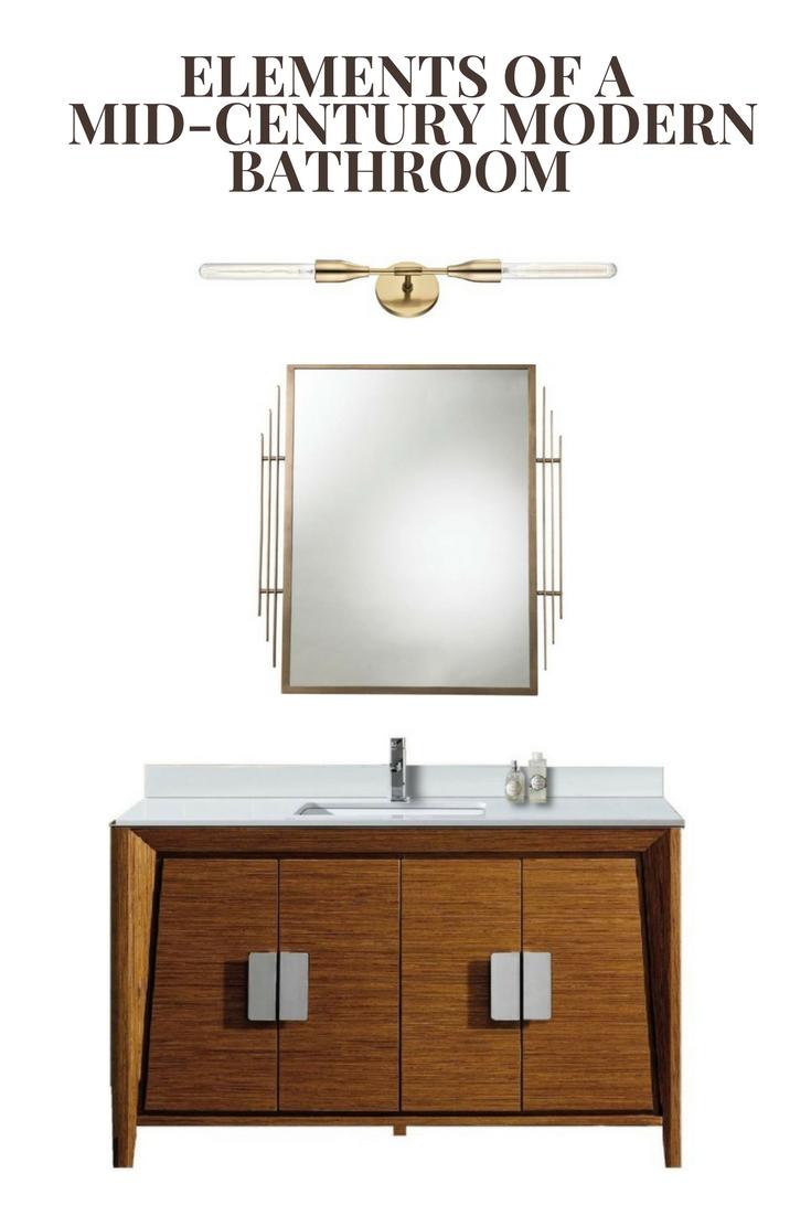 Elements Of A Mid Century Modern Bathroom The Nest Design Studio