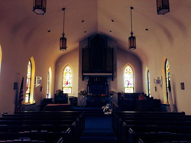 Our beautiful sanctuary #sanctuary #church #jesus #blessed #stainedglass #illinois #allarewelcome