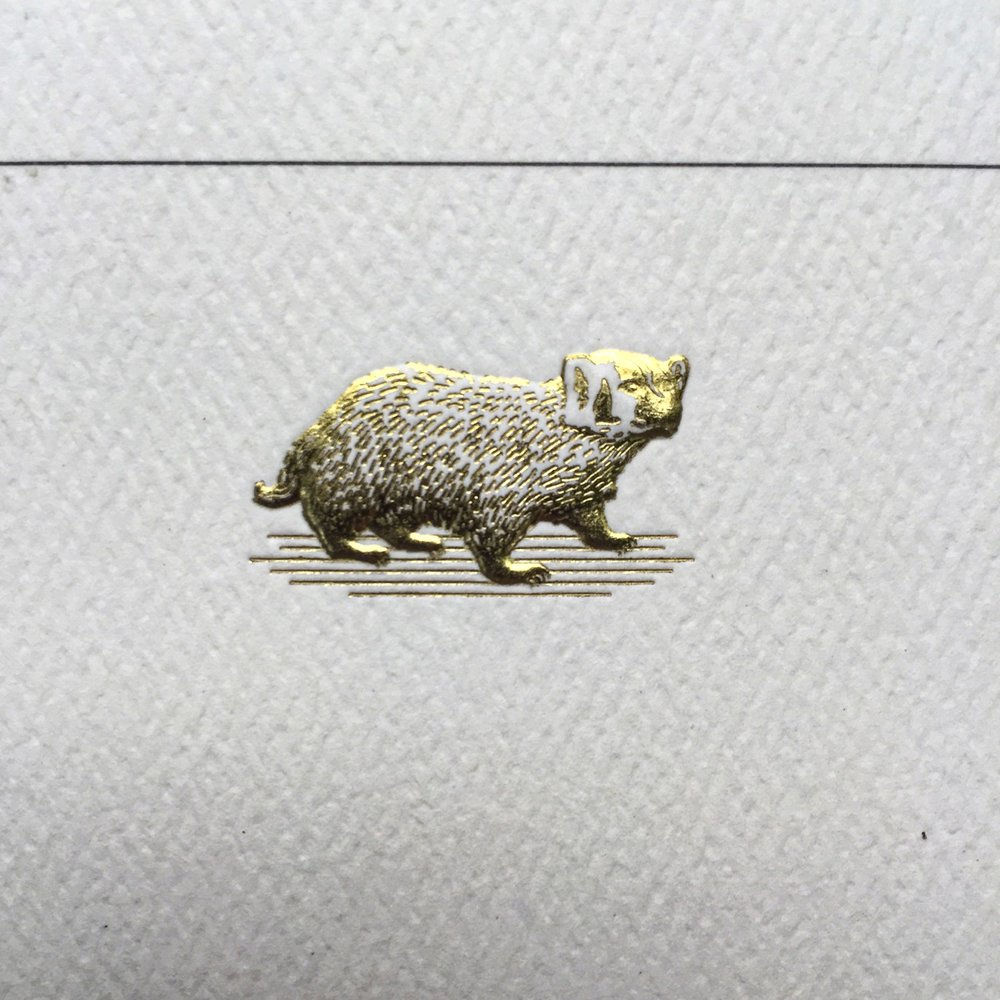 Sculpture embossed foil stamp letterhead