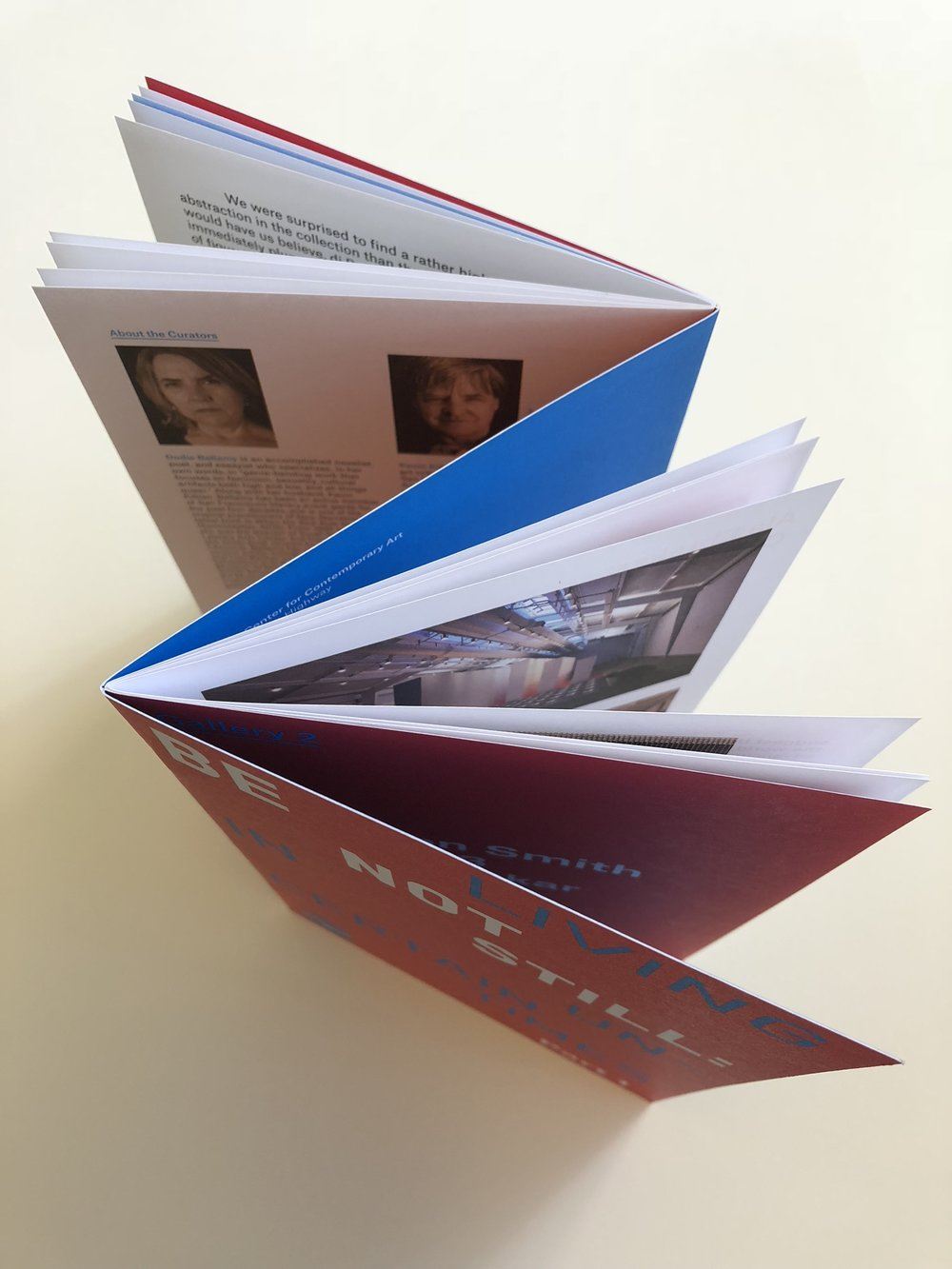 2 saddle-stitched booklets in a Z-fold cover