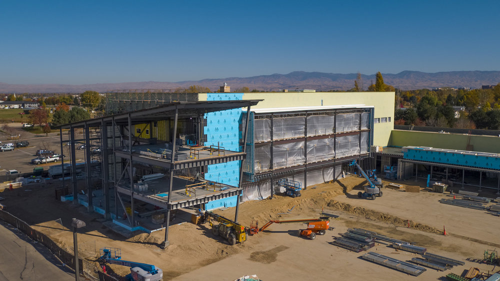 ICOM Building - We captured every step of the process as the first medical school in Idaho was built. This stunning facility was filmed every month to help manage the project and track progress.