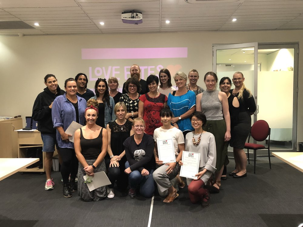 Daniel Peterson, Anona Le Page and Jan Schatz attended Love Bites training in preparation to facilitate the program for year 10 students in high schools on the Northern Beaches.