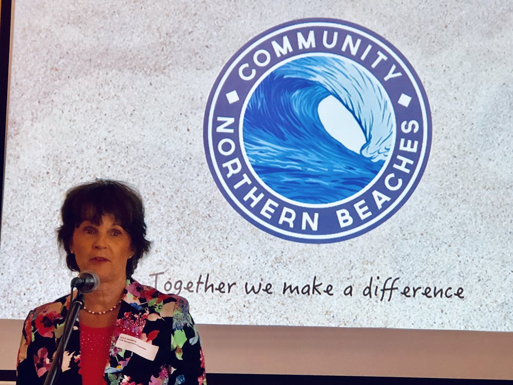 Adele Heasman addresses the recent Community Northern Beaches' Annual General Meeting
