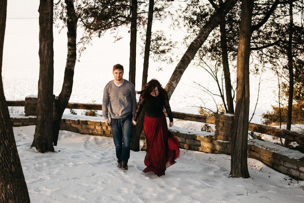 Macy & Joey Christmas Day Winter Couple
