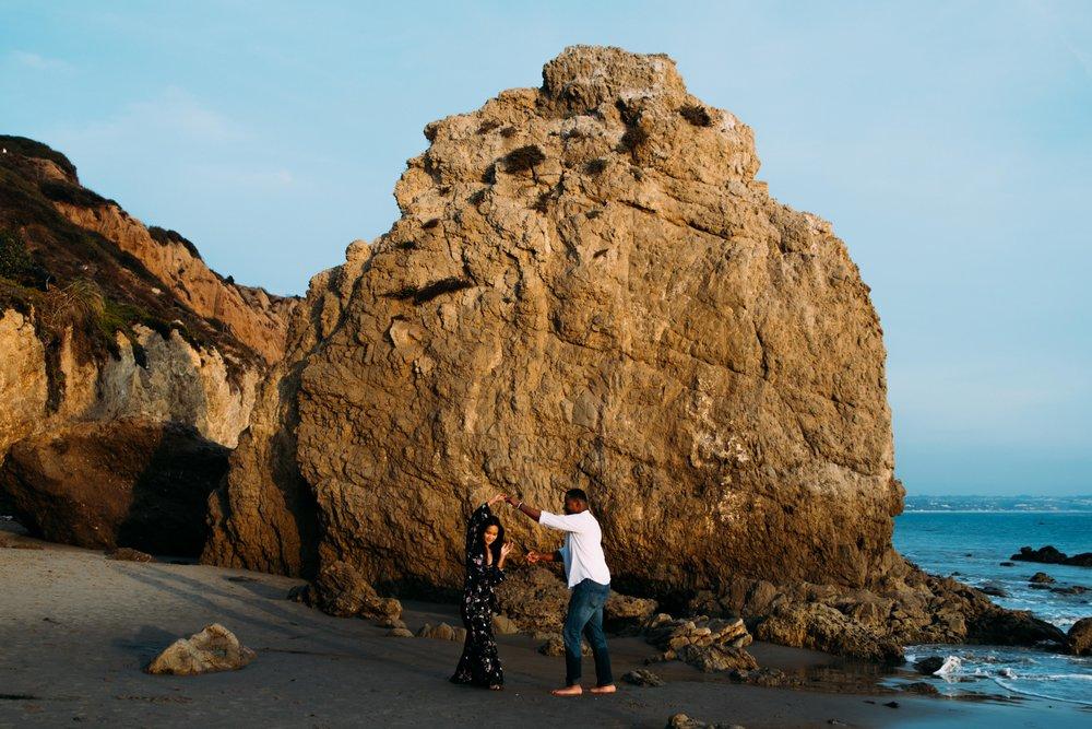 El Matador Beach Couple Portraits