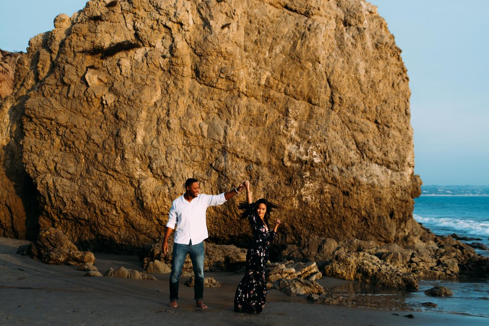 El Matador Malibu Beach Couple Portraits