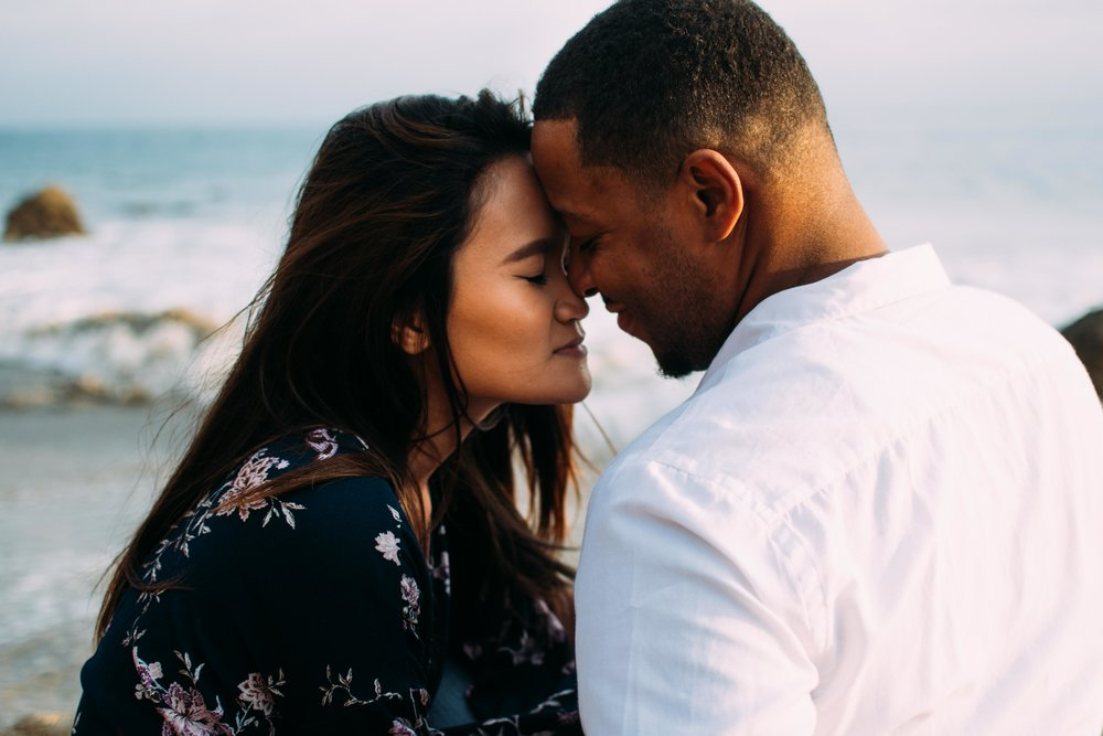Oceanside Malibu Beach Couple Portraits