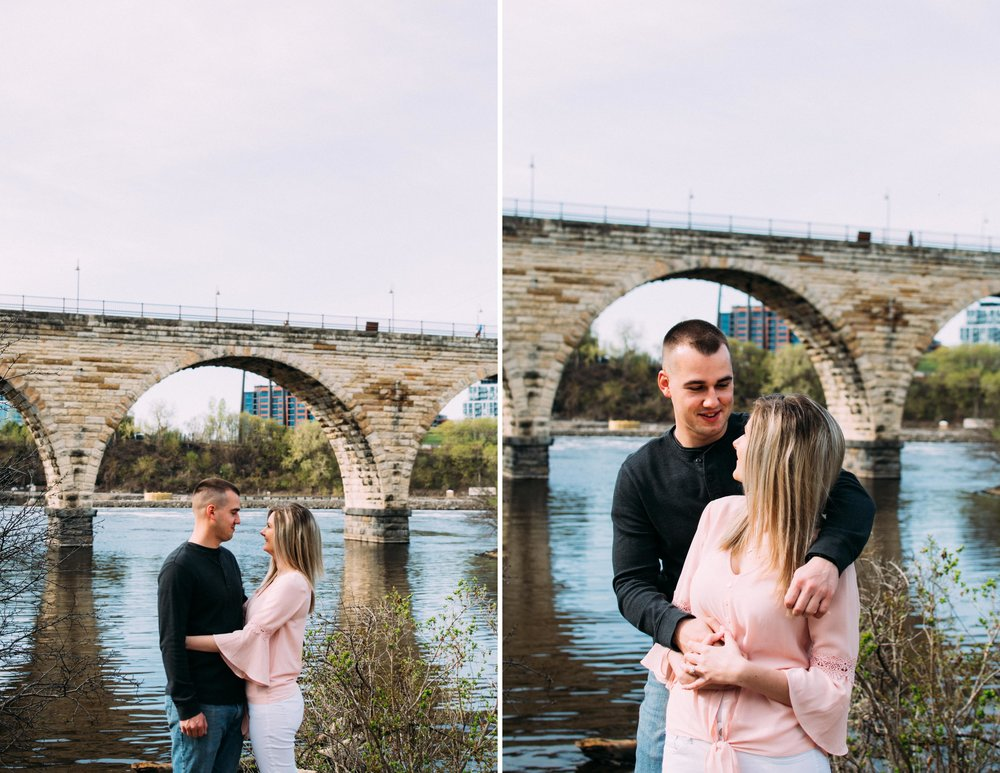 Ricky Krissy Engagement Stone Arch Bridge Minnapolis-4.jpg