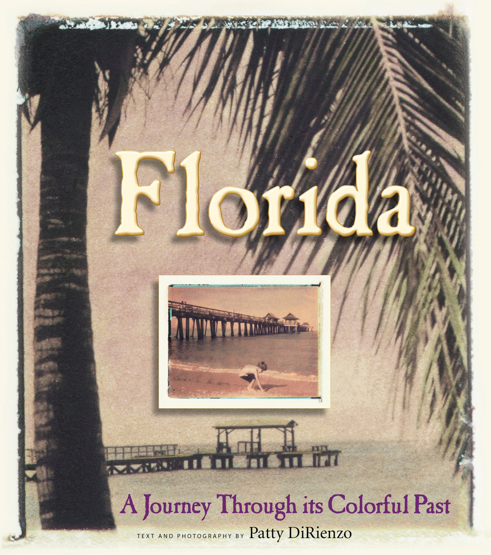 Florida ~A Journey through its Colorful Past -  Think Florida and the mind conjures images of palm-fringed beaches and glittering skyscrapers, noisy theme parks and the silent vastness of the Everglades.But the Sunshine State is much more than that and this slim but wonderfully engaging book brings the 'other' Florida to life. Patty DiRienzo's text is thoughtful and informative – but it's her moody, evocative photographs that give the book its magic. Modest country churches, hand-painted roadside signs, a small-town barber shop, a spindly-legged fishing pier – they're all here, in subtly-tinted images that look as if they might have fallen out of a cherished family album. Far from being sentimental reminders of a long vanished world, these photos link us with the rich history and unique sense of place that are still very much alive behind the busy streets and glitzy facades of modern-day Florida.                            Richard MoePresident, National Trust for Historic PreservationHardcover| 8x9 | 160 pages Big Earth Publishing