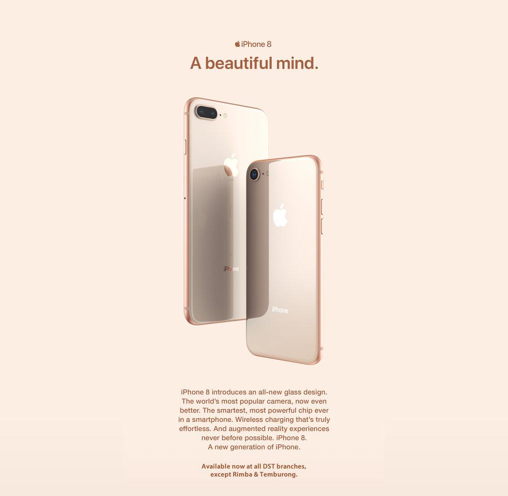iPhone 8. A beautiful mind.