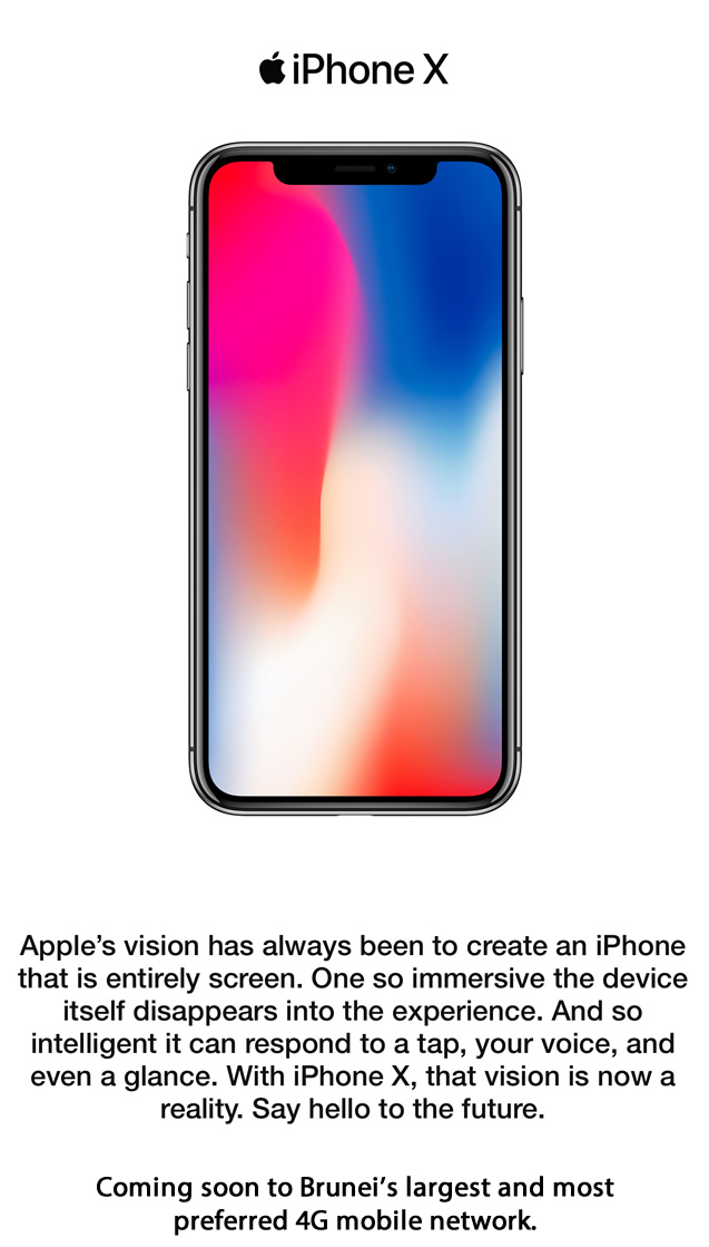 iPhone X - Say hello to the future.