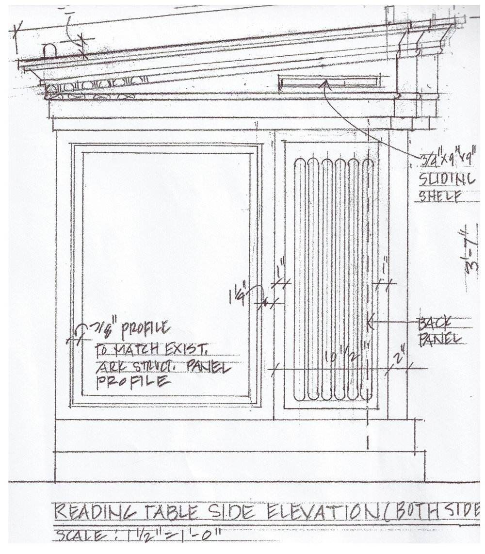 Architectural Drawing for the Torah Reading Table