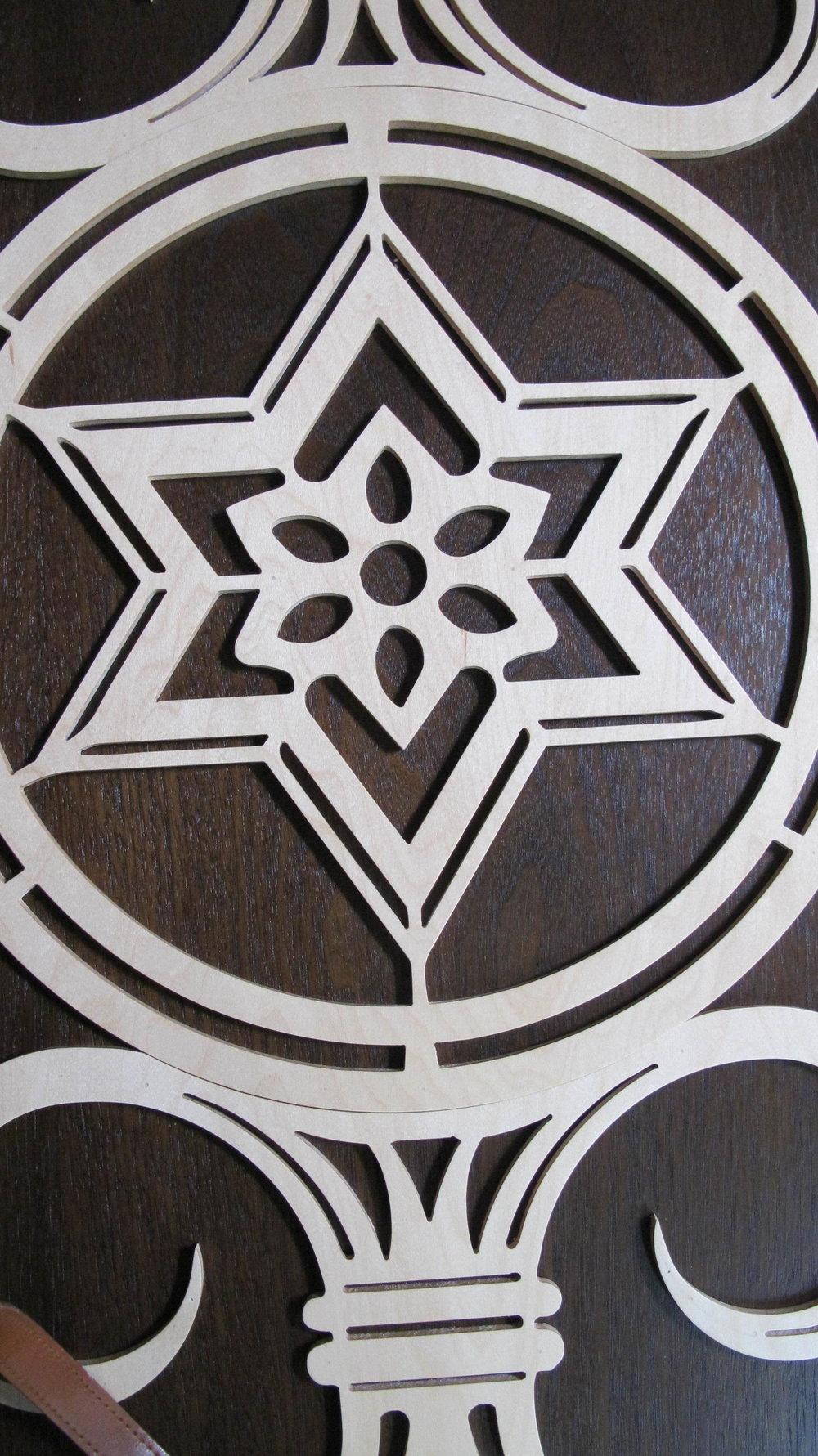 Pattern on Portable Ark doors