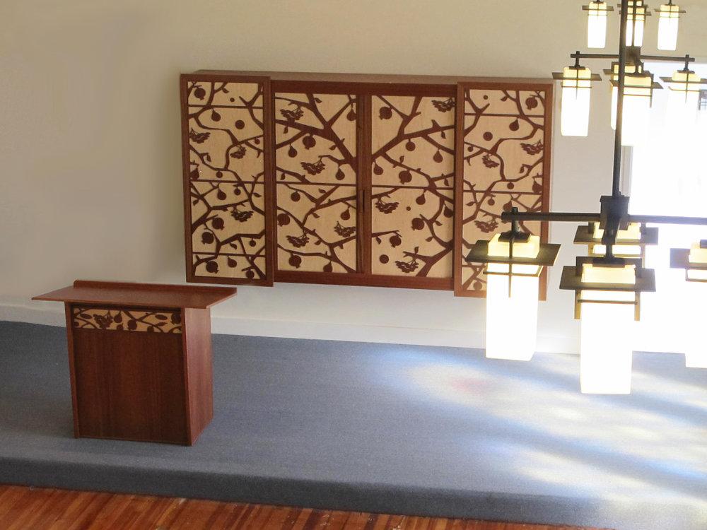 Torah Ark with matching Torah Reading Table