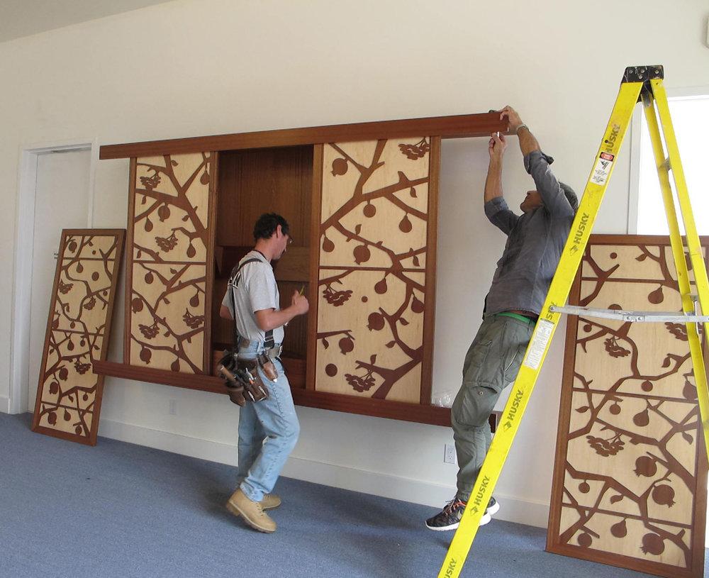 Torah Ark installation