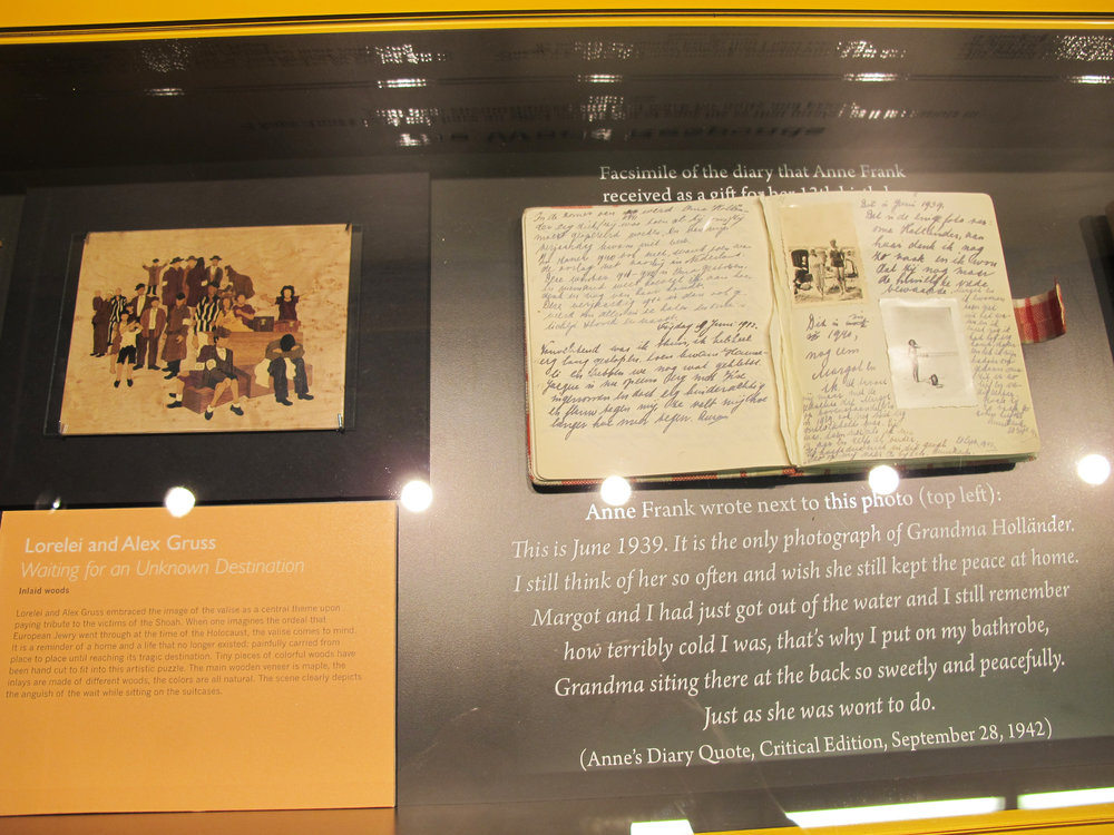 Next to the Anne Frank Diary Facsimile