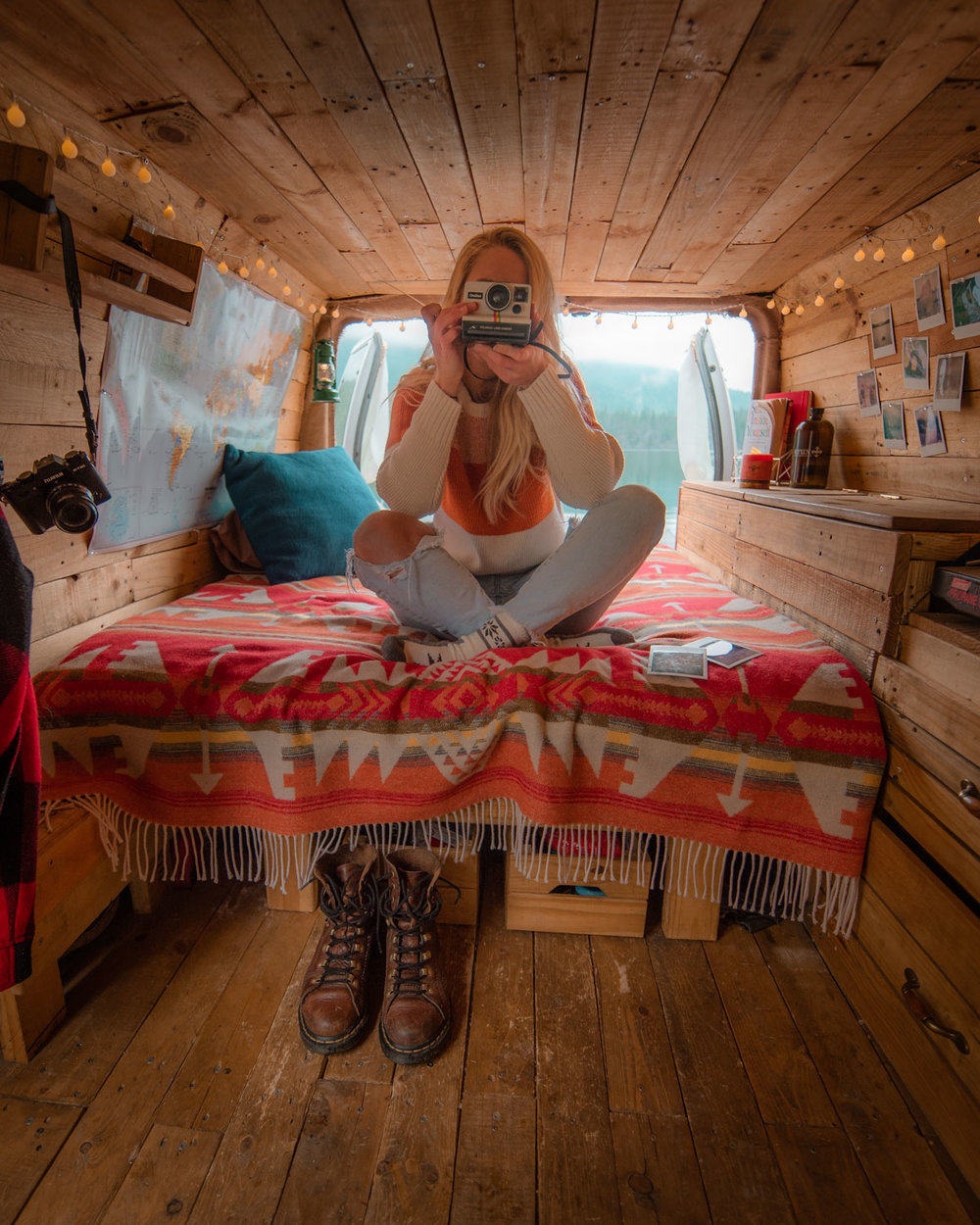 The van will never be as clean as it is whilst doing a photoshoot in it, but who wants to look at a messy van?! Tell the story and sell the dream, the dream you're actually living, just a slightly tidier version!