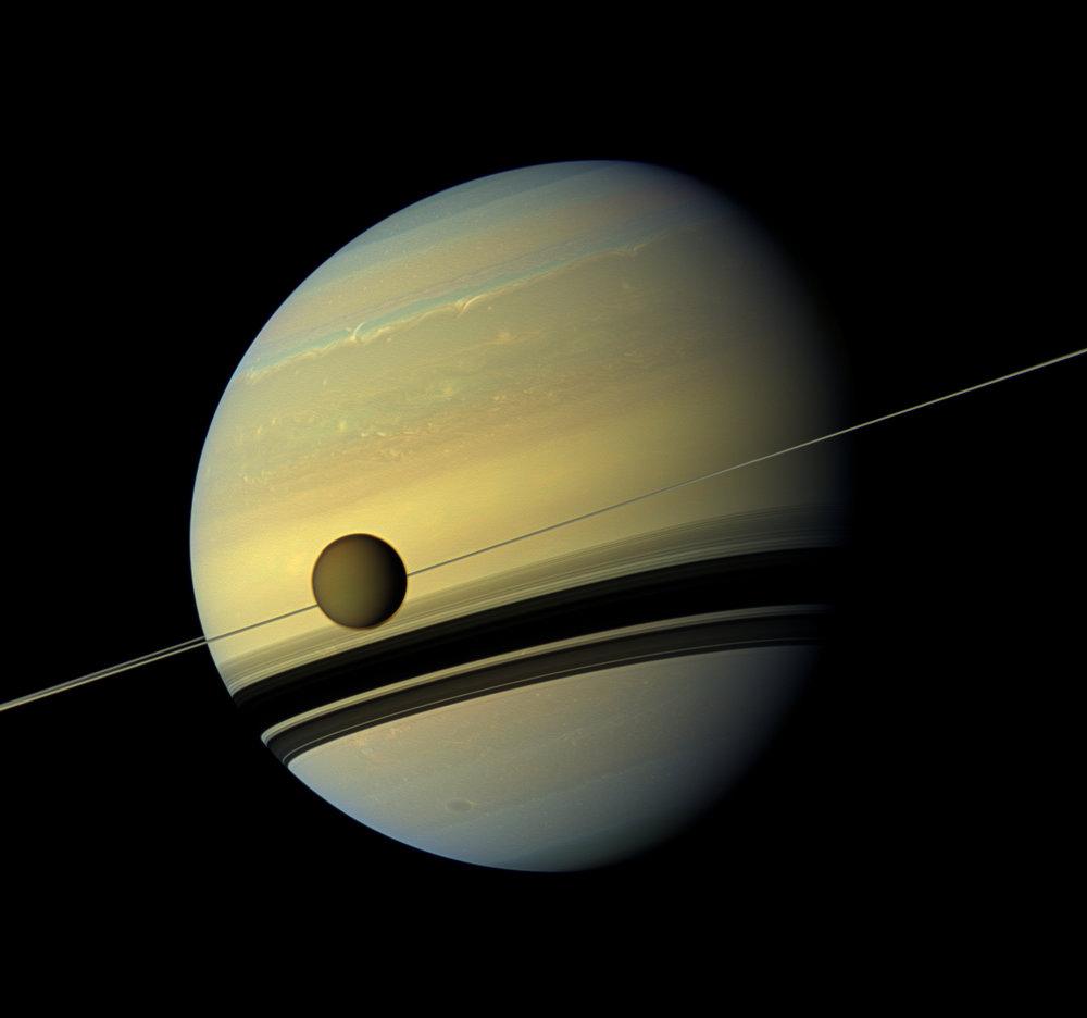 Image of Saturn and Titan courtesy of NASA
