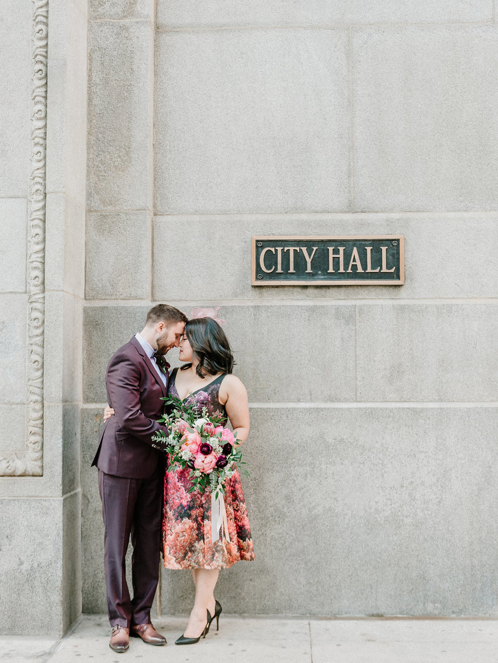 city hall elopement chicago