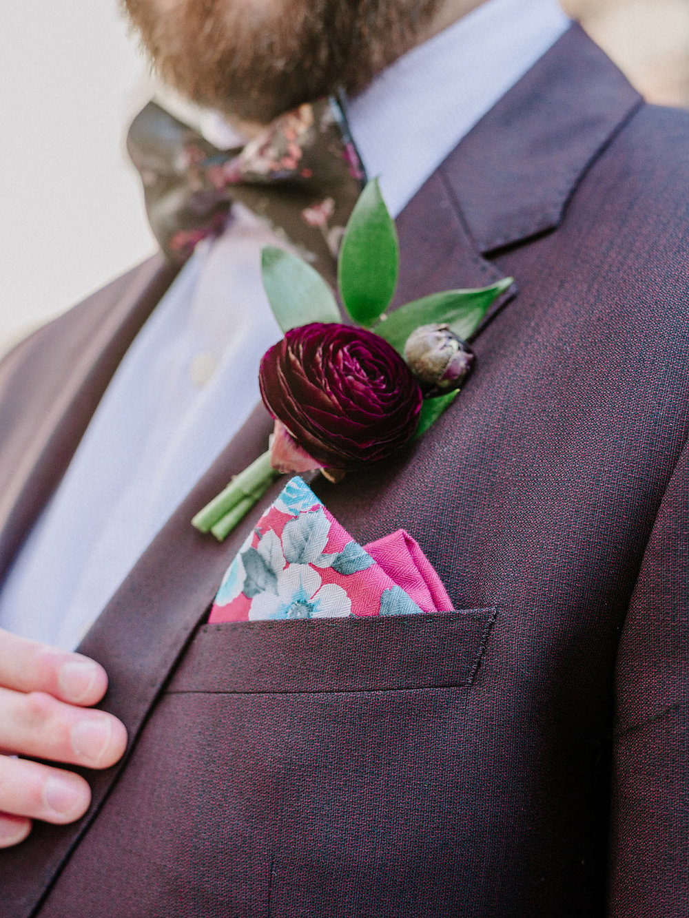 elopement boutonniere chicago