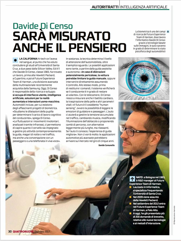 Article on Quattroruote Magazine