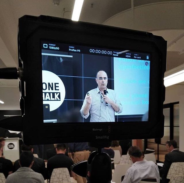 Great photo taken by Jamie Andrei from @bake.agency of @chocolatejohnny at the Social Media Masterclass where we were discussing how to Harness the Power of Video marketing. Jamie and Johnny shared so many great tips!
