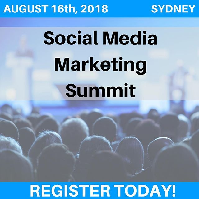 One thing we know for sure is that social media is constantly evolving.  Don't be left behind!!!! The Social Media Marketing Summit is this year's must attend event for anyone who uses social media and gives you the opportunity to learn from and network with some of the brightest social media marketers in the industry.  Learn the latest trends in social media for 2019 and beyond.  Early bird tickets are only available until 30th June 2018.  To learn more, click the link in the bio 👆
