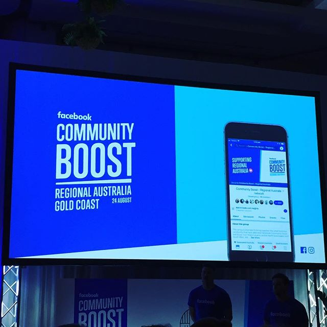 Spending the day at the Facebook Community Boost on the Gold Coast. Lots of learning and connecting! 🎓