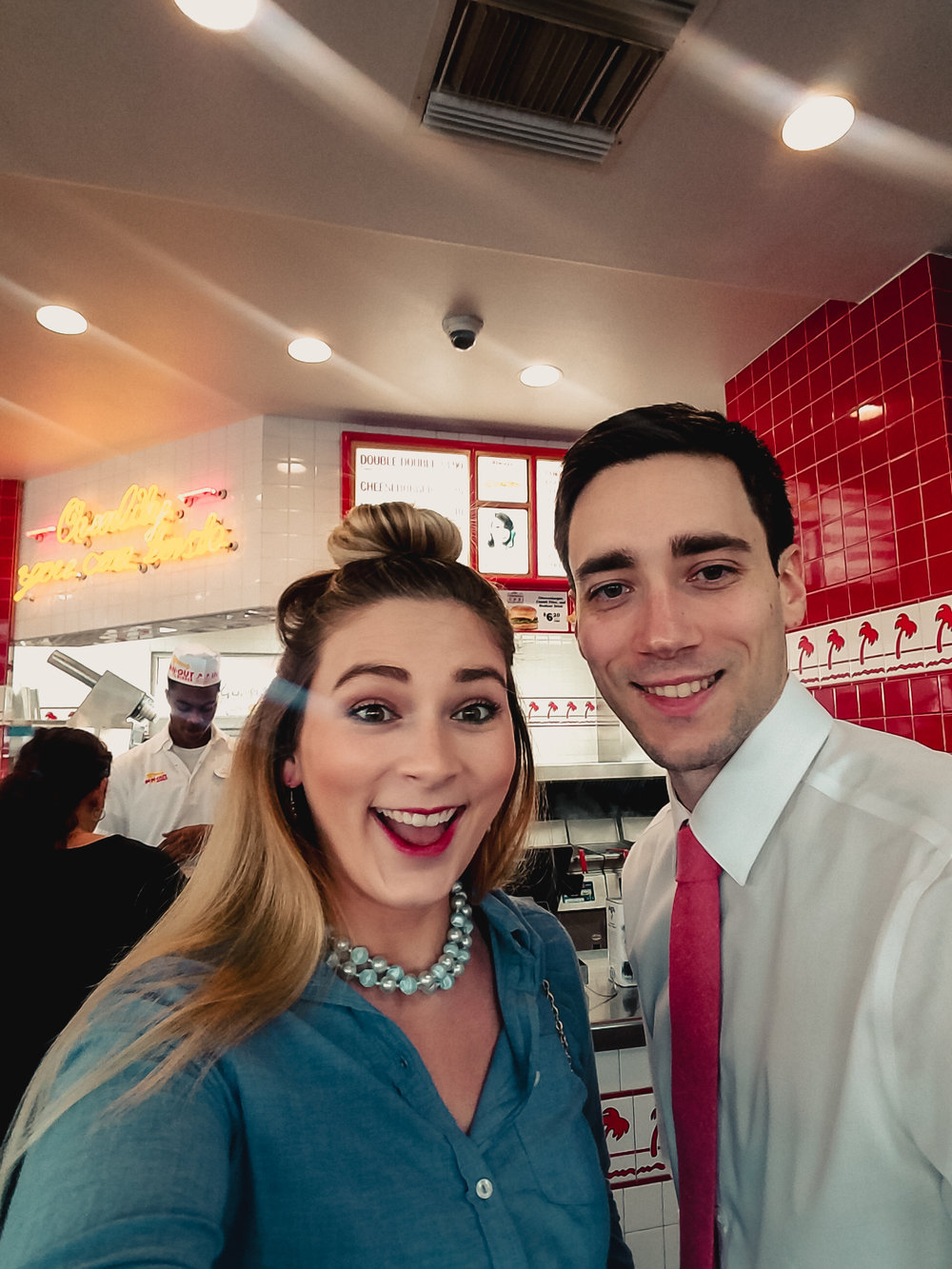 Phone photo - In-N-Out after our courthouse ceremony!