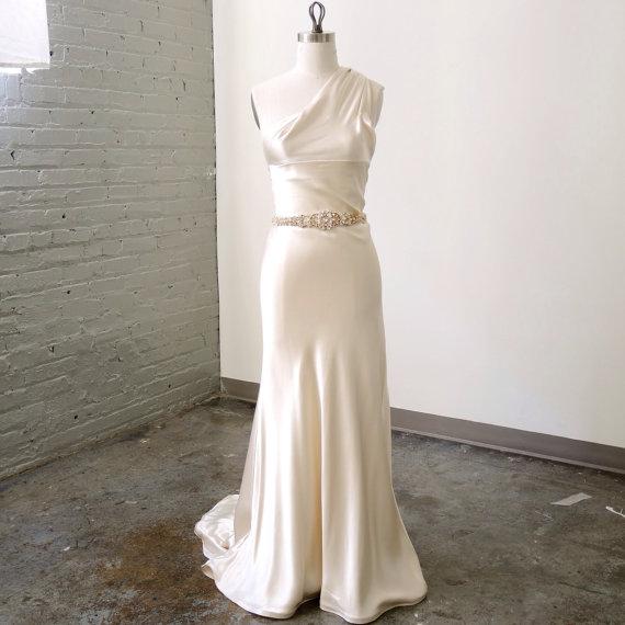 VIRGINIA - Vintage Gold Swarovski Crystal Bridal Belt — Helena ...
