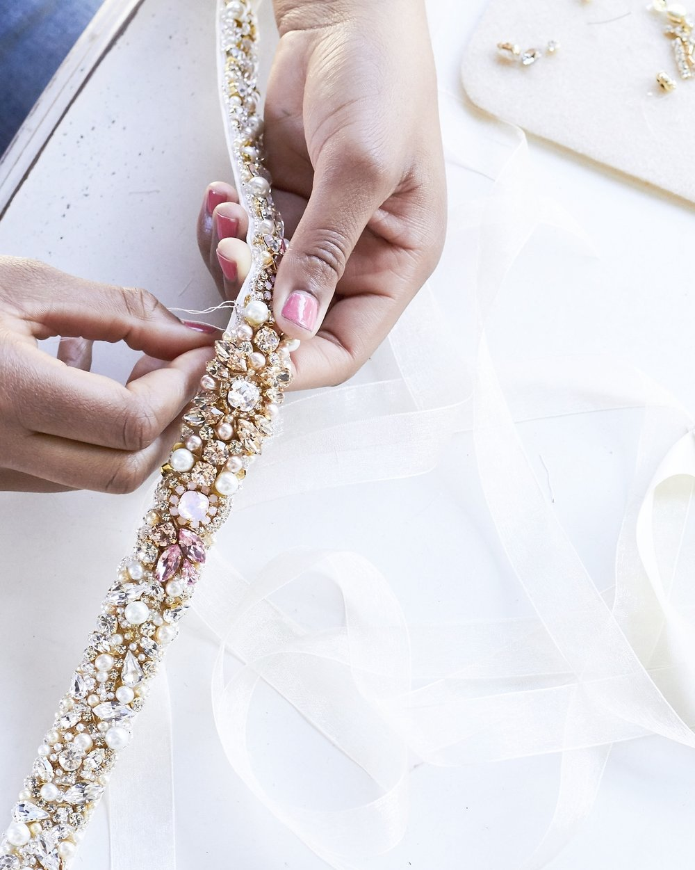 Connect with a Designer - We love connecting on a more personal level with our brides. Whether it's to design a custom piece or to answer any questions about our designs, send us a message! Your request will be answered in a timely manner.