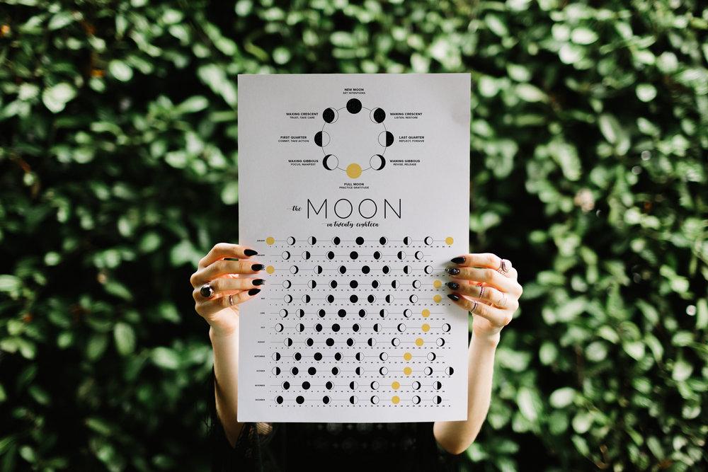 Jennifer Miranda 2018 Moon Calendar