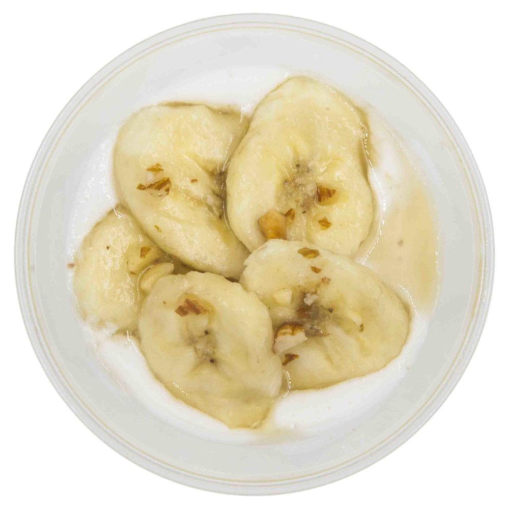 Detox Banana Oatmeal - 463 KCAL PER SERVINGINGREDIENTS: Coconut yogurt, cashew mylk, oatmeal, almonds and honey.$55