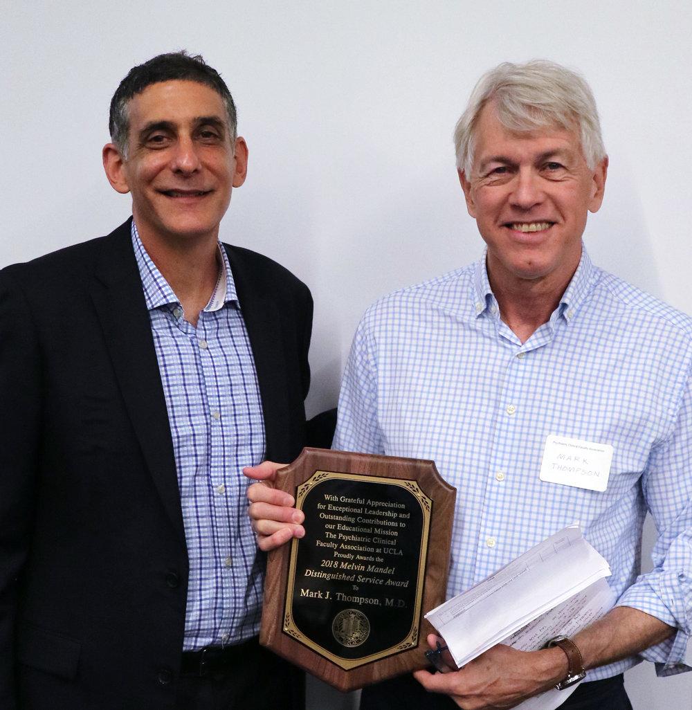 David Sones; J. Mark Thompson, Mandel Award Recipient