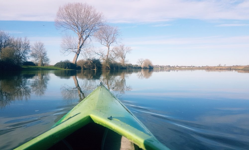 Kayaking on the River Thames