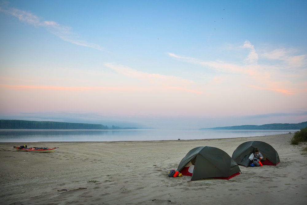 Camping on the River Danube, Serbia