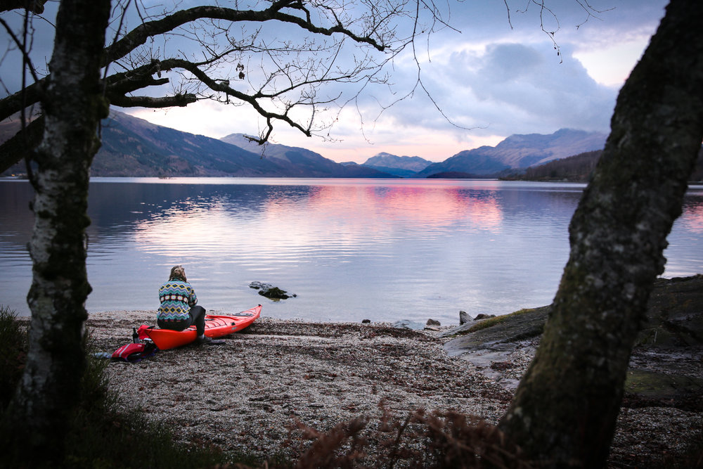 Kayaking adventure on Loch Lomond, Scotland