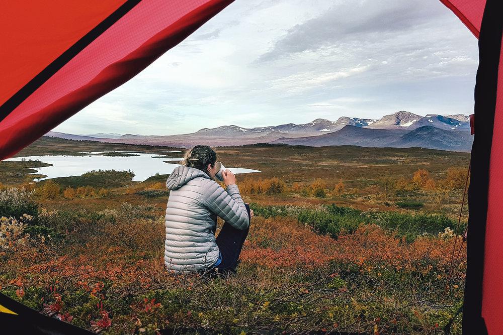Wild camping, Arctic Sweden