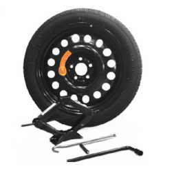 Reservewiel kit - Op dit moment zijn veel voertuigen niet langer uitgerust met een reservewiel. Daarom bieden we een reservewielkit met:een wiel aangepast aan uw voertuigcompleete materiaalEr is een tas voorzien om uw opslag te vergemakkelijken.