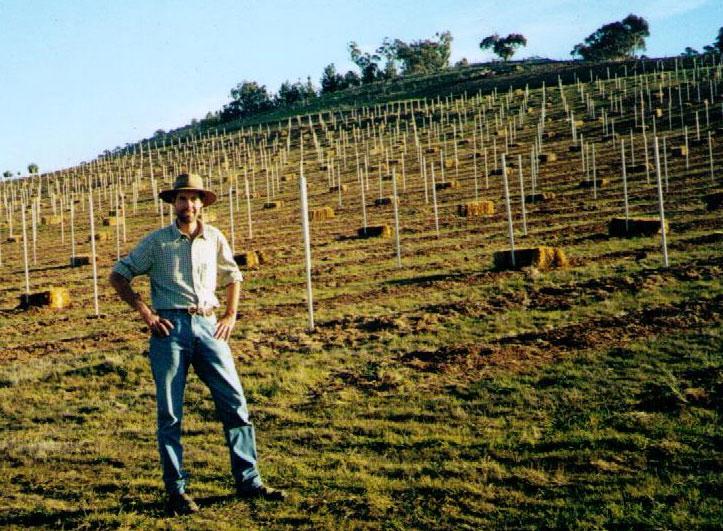 Dr Frank van de Loo, Image from Mount Majura Vineyard
